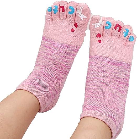 Primavera y otoño Calcetines de cinco dedos Calcetines de algodón ...