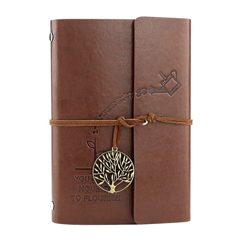 Veesun Klein Leder Notizbuch Vintage Tagebuch Nachfü Llbar Leer Buch