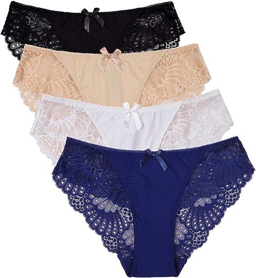 Ruxia Womens Seamless Bikini Panties Soft Heather Hipster Comfortable Underwear Multipack of 5 S /…