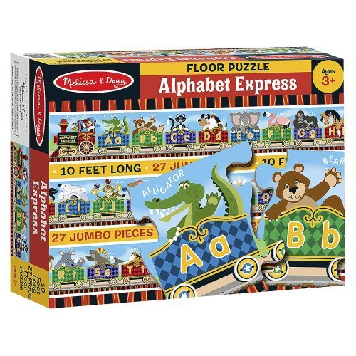 Alphabet Express: 27-Piece Floor Puzzle + FREE Melissa & Doug Scratch Art Mini-Pad Bundle [44202]