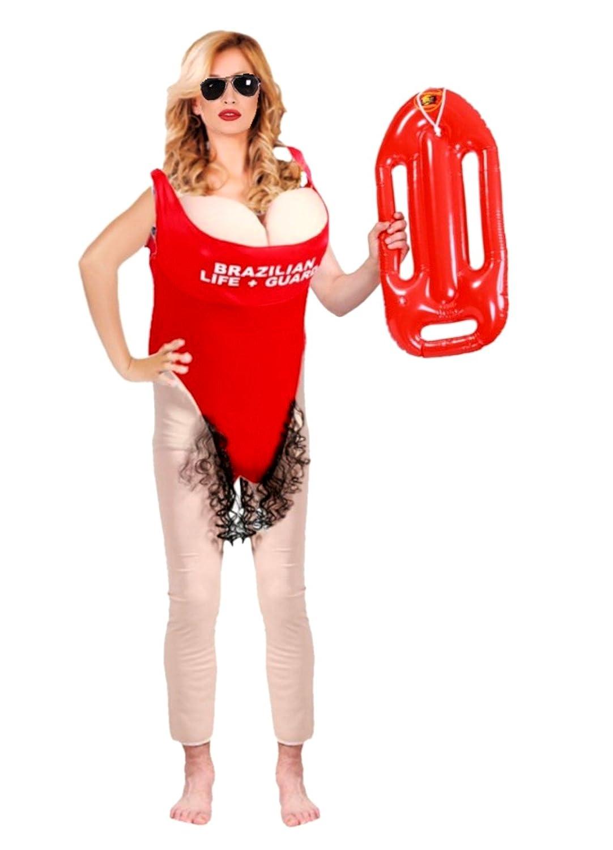 Disfraz de Vigilanta de la Playa - Mujer, L: Amazon.es: Ropa y accesorios