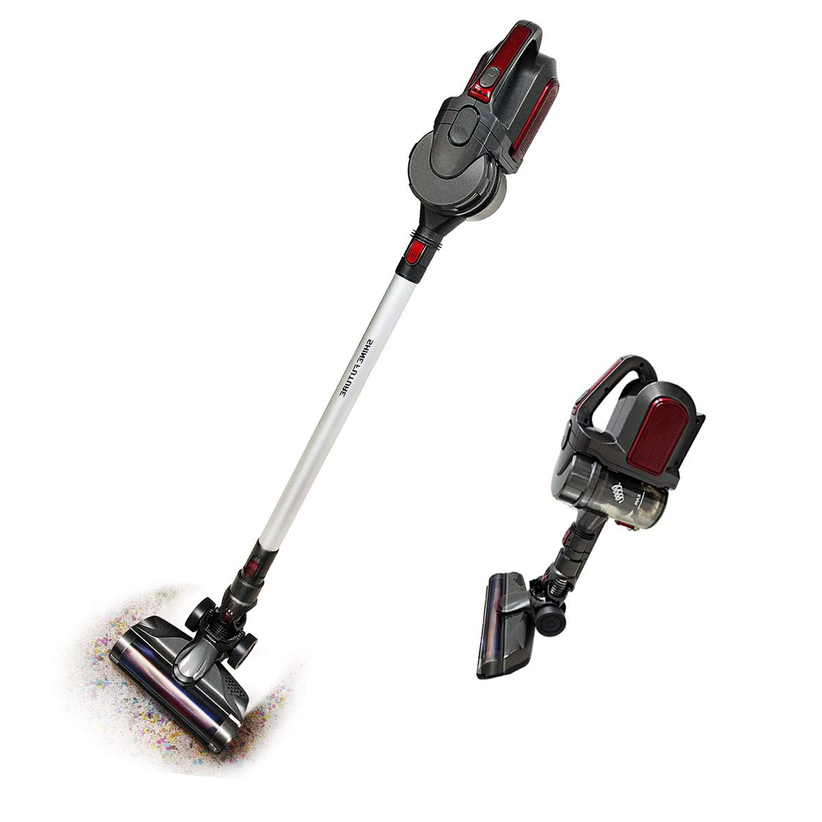 SHINEFUTURE Upright Cleaner Stick 2 in 1 Cordless 8.5Kpa Powerful Lightweight with Lift-Away Hand Vacuum, 22.2 V Battery and Wall Mount