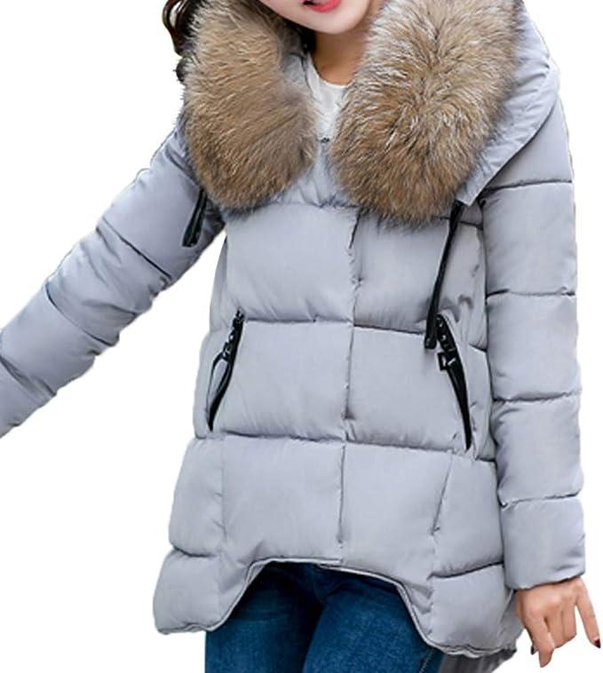 NUOVA linea donna Imbottito Inverno Cappotto Donna Giacca Taglia 8 10 12 14 16 PARKA COLLO PELLICCIA