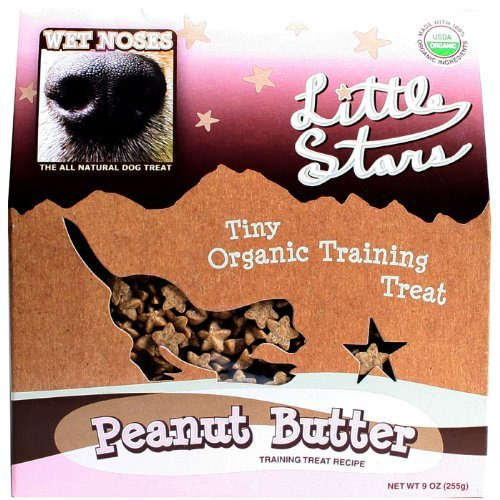 Wet  Noses All Natural  Dog Treats 545406 Wet Noses Stars Peanut butter Training Treat for Pets, 9-Ounce (Wet Noses Training Treats compare prices)