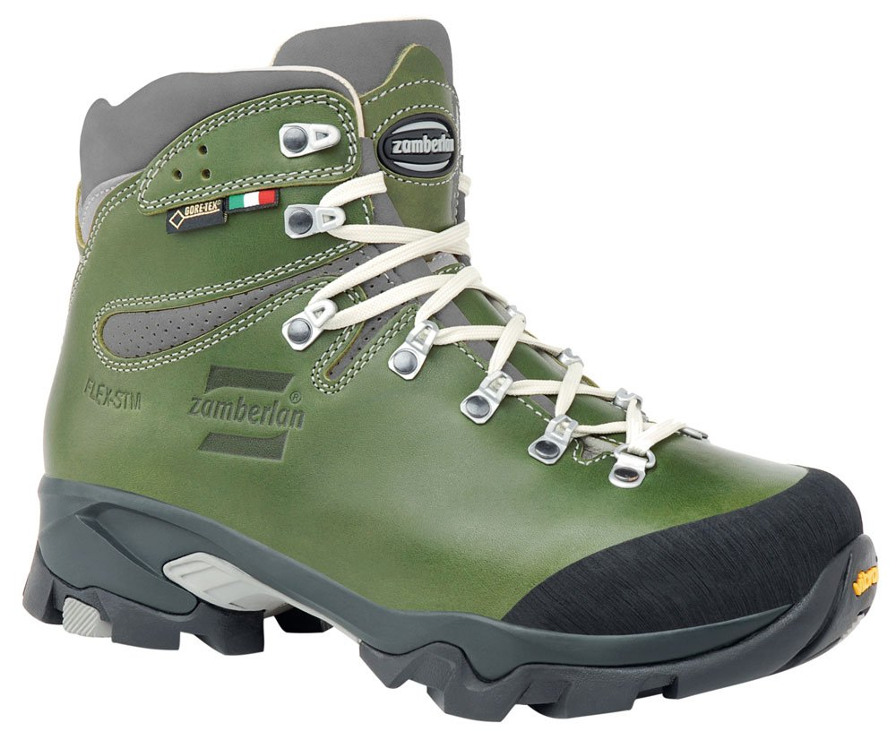 Zamberlan Women's 1996 VIOZ LUX GTX RR WNS Waxed Green Leather Backpacking Boots size 37 / 6