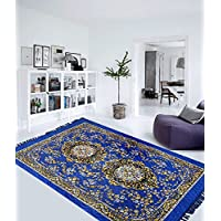 Elite Home HOME ELITE Traditional Abstract Polyester Carpet - 55X80, Blue