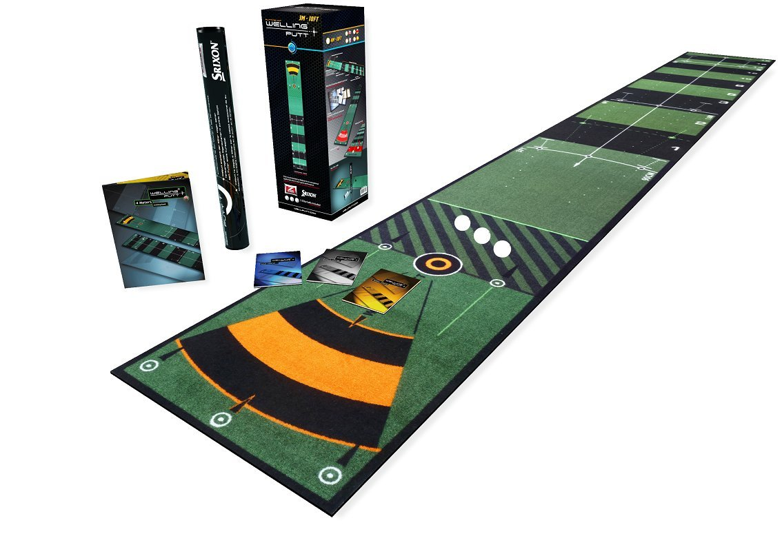 WellPutt Putting Mat, 13 Foot, Training Book Includes More Than 50 Training Exercises by Well Putt