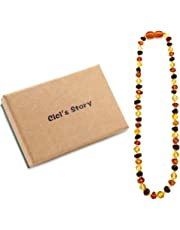 Baltic Amber Teething Necklace for Baby (Unisex)(Multicolor)(13 Inches) - Baby Gift Sets - Natural Anti Inflammatory Beads.Teething Pain Reduce Properties