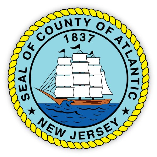 Atlantic county seal New Jersey sticker decal 4