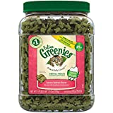Feline Greenies Dental Cat Treats, Savory Salmon Flavor, 21 Ounce Tub