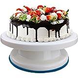 Plastic Round Rotating Revolving Cake Turntable Decorating Stand Platform (Multicolour) Brand Master Royal BackNCook Tools