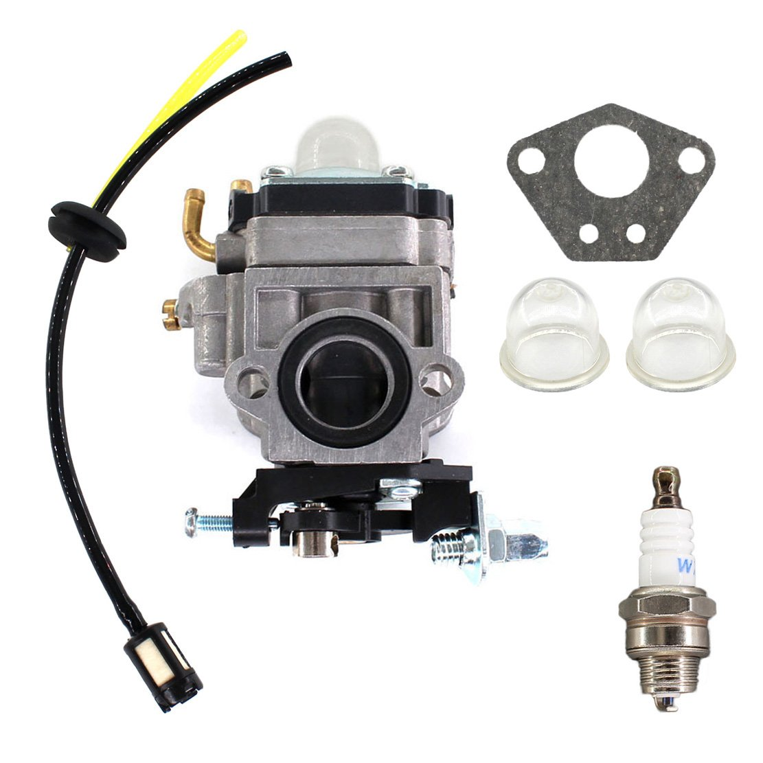USPEEDA Carburetor Carb for X1 X 2 X3 X 7 R1 FS509 FS529 Gas 43CC 49CC Pocket Bike GS Moon Motovox MVS10 13218 Fuel Line Filter Grommet Kit