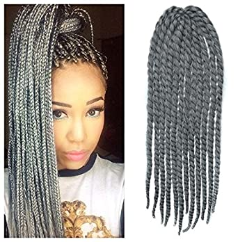 Amazon 24 grey color crochet braid hair extensions hair 24quot grey color crochet braid hair extensions hair braids havana mambo twist style cuban pmusecretfo Gallery