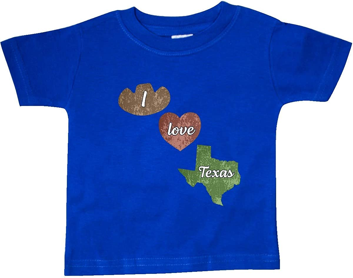 inktastic I Love Texas Baby T-Shirt
