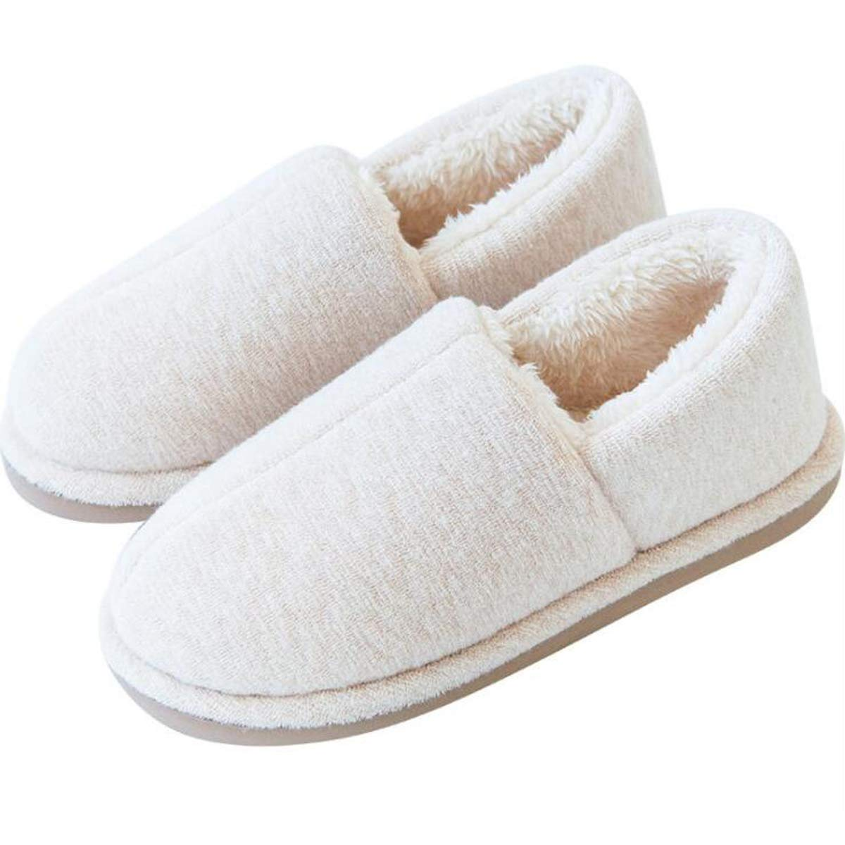 Dear Time Unisex Warm House Slippers Cotton Indoor Shoes for Pregnant Anti-Slip Shoes
