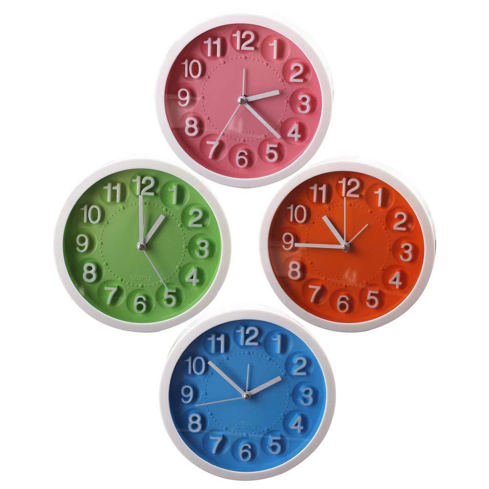 Favourall Horloge Murale électronique avec Mode Stummschalten de Nuit pour Chambre à Coucher - Réveil électronique - Mouvement à Quartz (Couleur aléatoire)