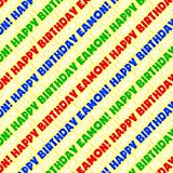 Eamon Happy Birthday Premium Gift Wrap Wrapping Paper Roll - Rainbow Multi-Colored