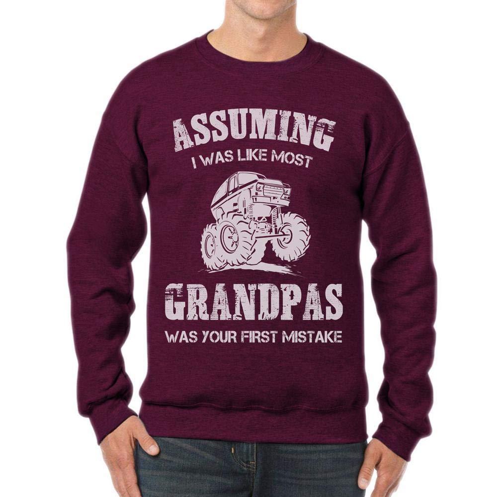 tee Assuming Grandpas mud Truck Funny Father Trucker Unisex Sweatshirt