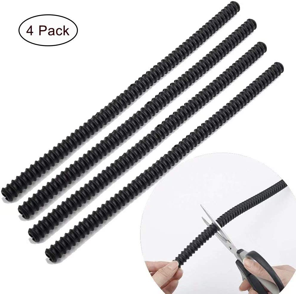 Silicone Oven Rack Guards 4 Pack, Heat Resistant Oven Rack Shields,Oven Rack Edge Protector Guard Cover,14 Inch Long,Prevent Hand/Arm Against Burns(Black)