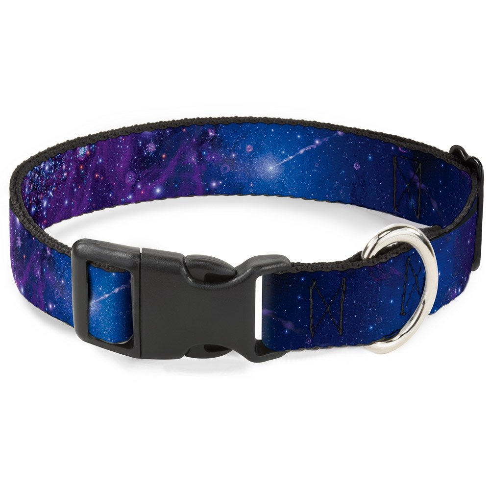 Galaxy bluees Purples 1.5\ Galaxy bluees Purples 1.5\ Buckle-Down PC-W30753-WS Dog Collar Plastic Clip Buckle, Galaxy bluees Purples, 1.5  x 13-18