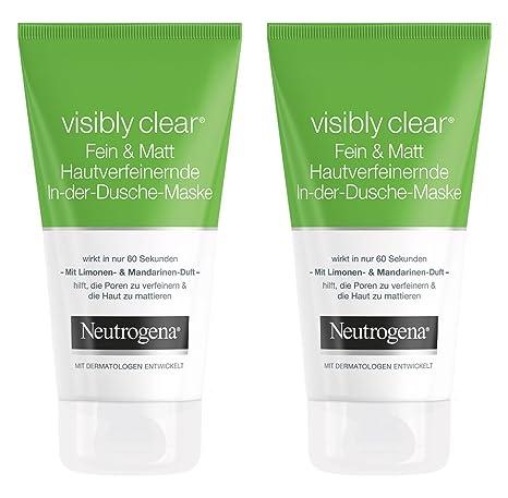 Neutrogena visibly Clear Fein & Mate en de ducha de máscara, 2 unidades (2