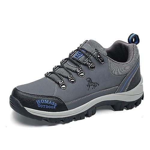 Hombre Zapatos de Senderismo de Seguridad Deportivos Aire Libre Zapatos de Trekking: Amazon.es: Zapatos y complementos