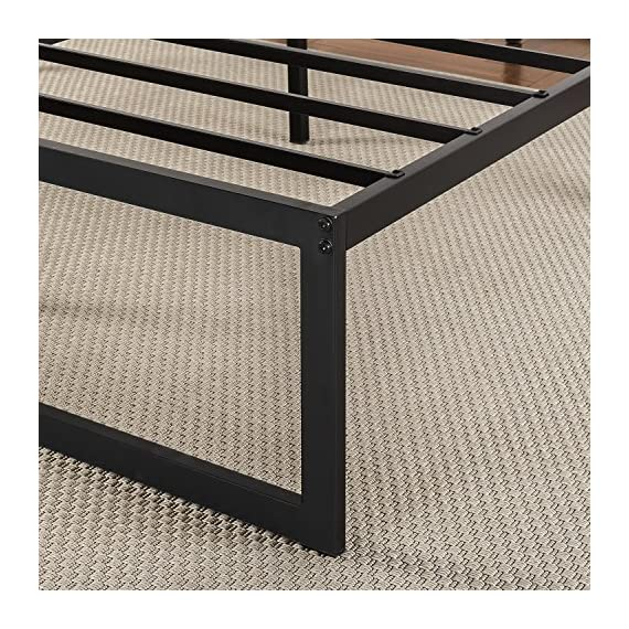 Zinus Abel 14 Inch Metal Platform Bed Frame / Mattress Foundation / No Box Spring Needed / Steel Slat Support / Easy Quick Lock Assembly, Queen - 14 inches with 13 inches of clearance under the frame for valuable under bed storage space Compact design allows for tight spaces such as staircases and doorways Reliable & extra durable steel slat mattress foundation - bedroom-furniture, bedroom, bed-frames - 61nau0erYqL. SS570  -