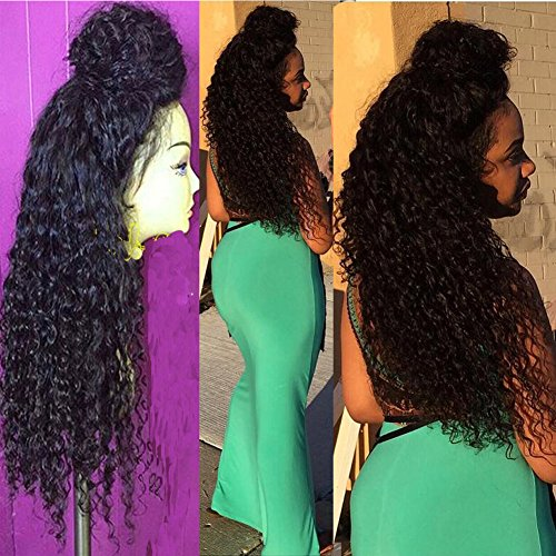 Long Deep Curly Synthetic Lace Front Wigs For Black Women With Baby Hair Natural Wigs 26 Inches