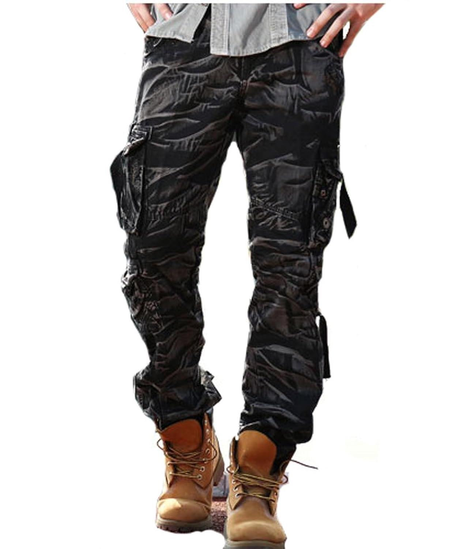 Tonwhar Mens Military-Style Cargo Pocket Shorts