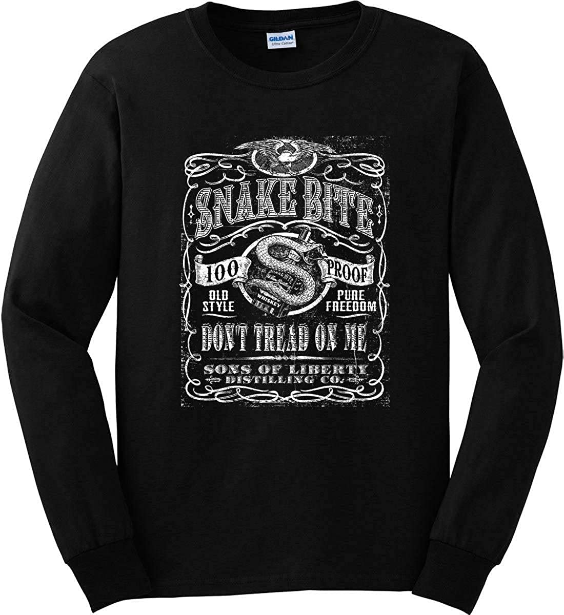Long Sleeve Shirt Sons Of Liberty Snake Bite Dont Tread on Me Distilling Co