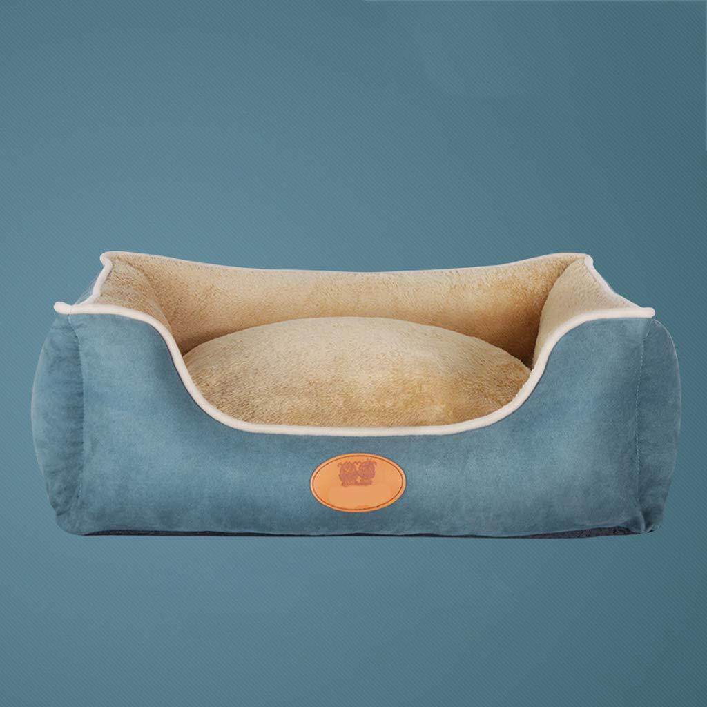bluee 555020cm bluee 555020cm Pet nido, rimovibile e lavabile quattro stagioni universale di pelle di daino pet mat, grande media e piccola cani inverno caldo cotone PP letto dell'animale domestico