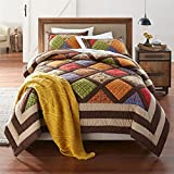 BrylaneHome Ginger Harvest Quilt (Brown Gold,Twin)