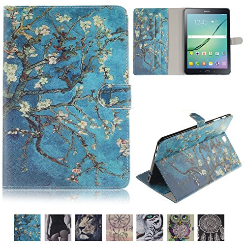 Galaxy Tab S2 9.7 Tablet Case, UUcovers PU Leather Magnetic Wallet Soft TPU Back Cover with Pocket Card Slots Folio Stand Shell for Samsung Galaxy Tab S2 9.7 inch (SM-T810/T815), -