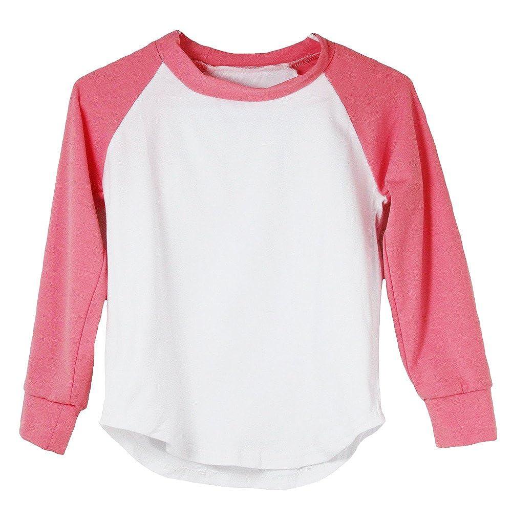 Salmon Long Sleeve Raglan Baseball T-Shirt 18002-Parent