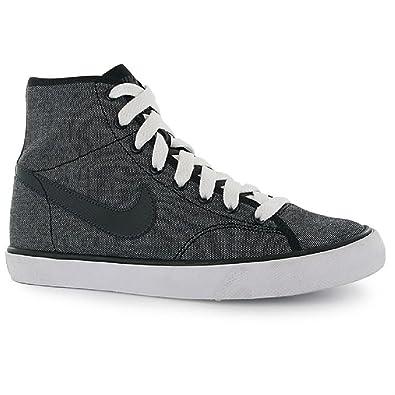 f53e3b75ba Nike High Top Trainers Boys Womens Primo Court Mid Canvas UK Size 3 EU 35.5  New Grey Black: Amazon.co.uk: Shoes & Bags