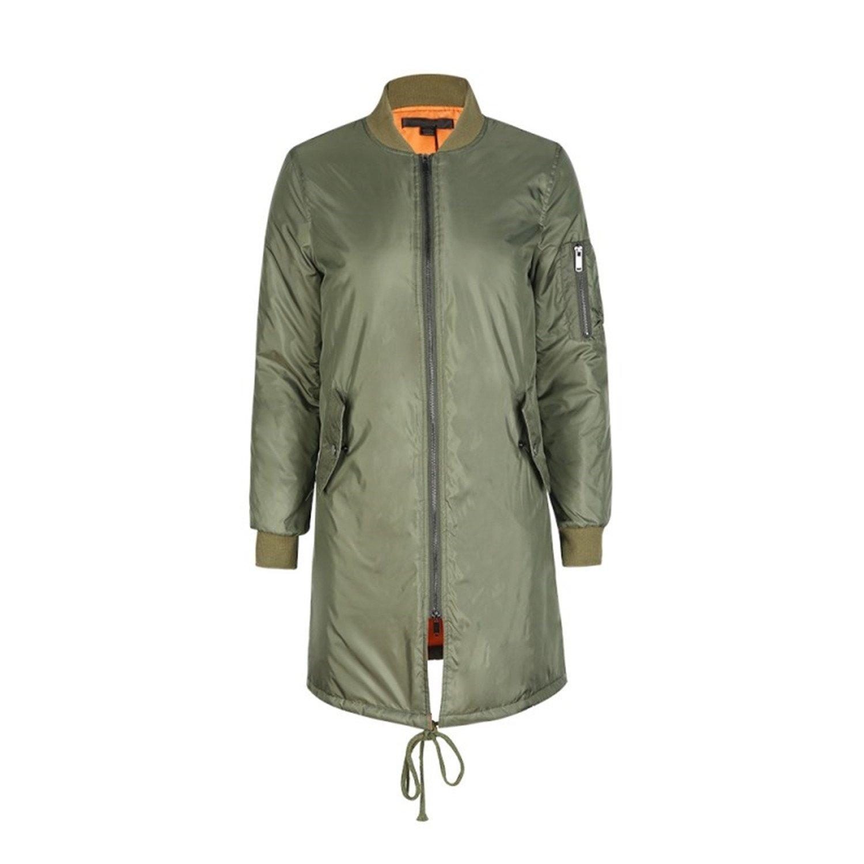Habitaen Long Jackets and Coats Casual Military Bomber Jacket Women Jackets