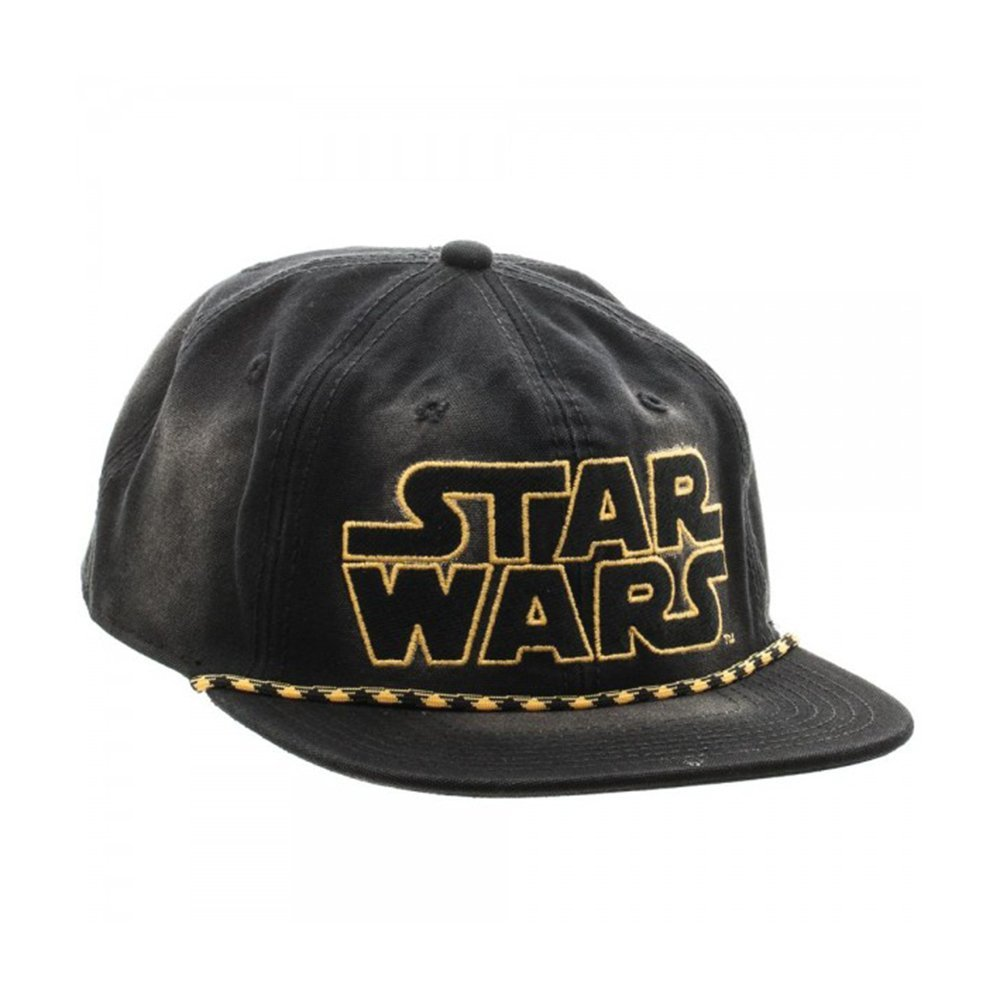 best loved 04097 d59b1 Amazon.com  Star Wars Logo Washed Unstructured 6 Panel Snapback  Clothing