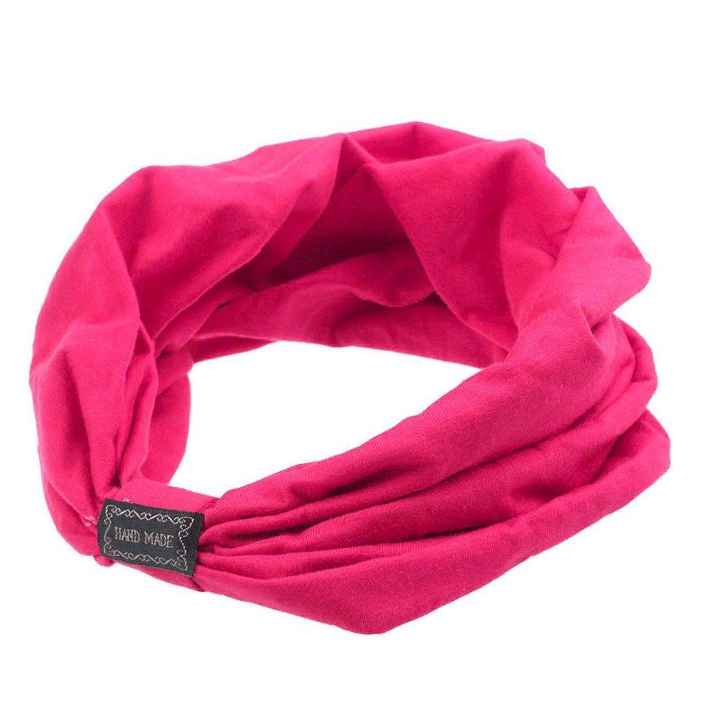 Sannysis®Mujeres elástico Deportes Headbands Turbante Headwear (Rosas fuertes) Amonfineshop