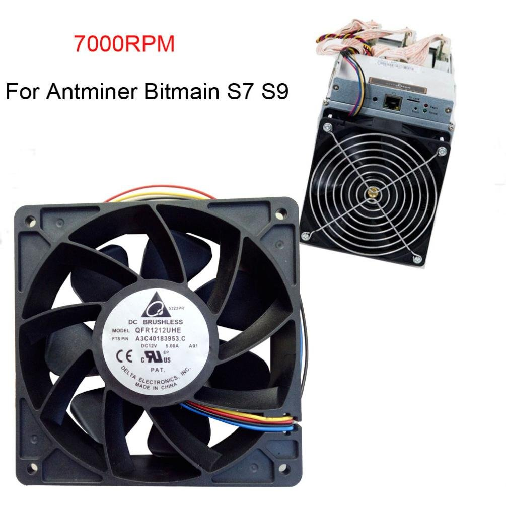 Amazon.com: 7000RPM Cooling Fan Replacement 4-pin Connector For Antminer  Bitmain S7 S9 (Black): Kitchen & Dining