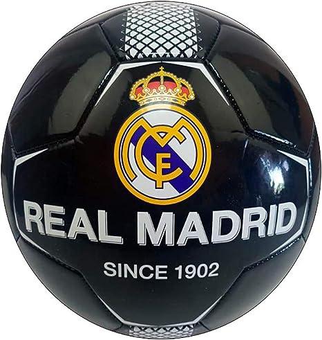 REALMADRID Real Madrid Balón de fútbol Unisex niños, negroTalla 5 ...