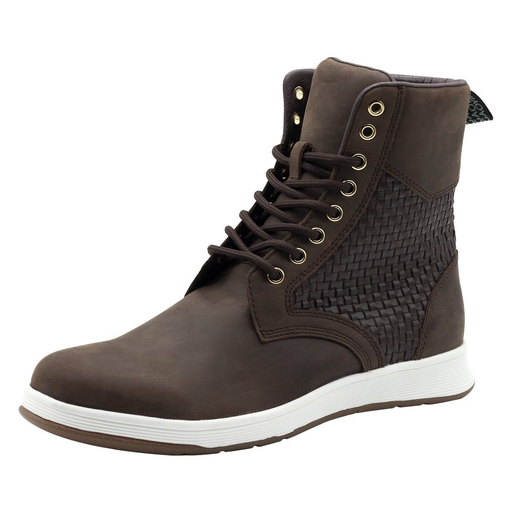 YNG Men's Cow Leather Classics Casual Comfort Combat Boot (9, Brown)