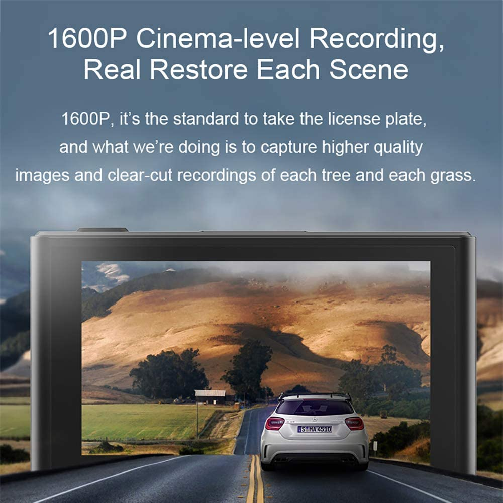 140/° Wide Angle WDR G-Sensor Parking Monitor Loop Recording ddpai Dash Cam 1600P FHD DVR Car Driving Recorder 3 Inch IPS Screen Touch Contorl ADAS,WiFi