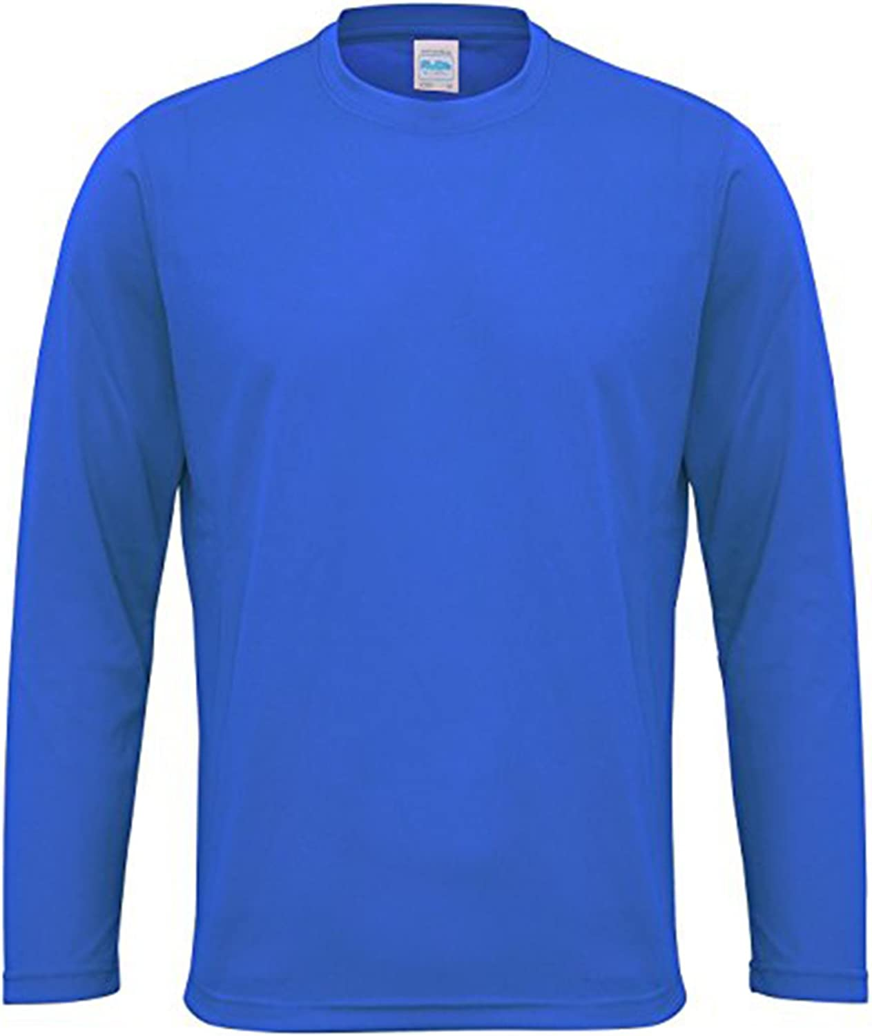 AWDis Long Sleeve Cool T shirt JC002 Self-fabric Crew Neck 100/% Polyester