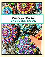 Rock Painting Mandala Exercise Book: The Art of Stone Painting   Rock Painting Books for Adults with different Templates   Mandala rock painting Books   How to paint mandala on rocks