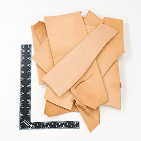 2 Pound Leather Scraps from Garment Cutting Mostly Black Color