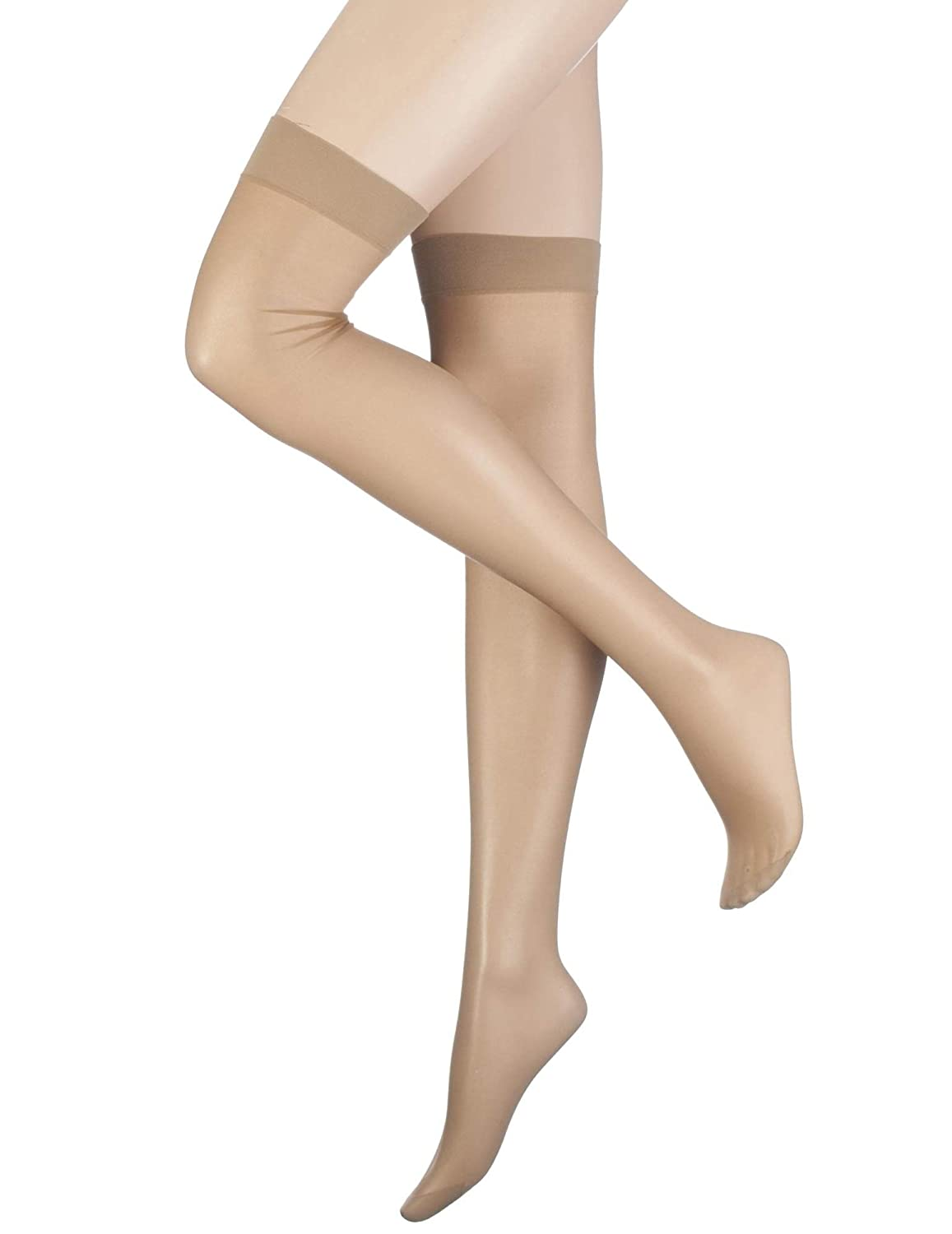 69f8d10413a Pretty Polly Women s 1 Pair Nylons - Stockings at Amazon Women s Clothing  store