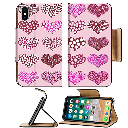 Liili Premium Apple iPhone X Flip Pu Leather Wallet Case Sweet hearts chocolates pattern in pink Photo 9427493 Simple Snap Carrying