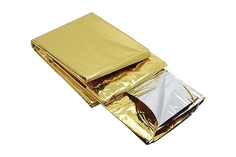 Coperte Termiche Oro Argento.Coperta Termica Di Sopravvivenza 2 Pagine Argento Oro