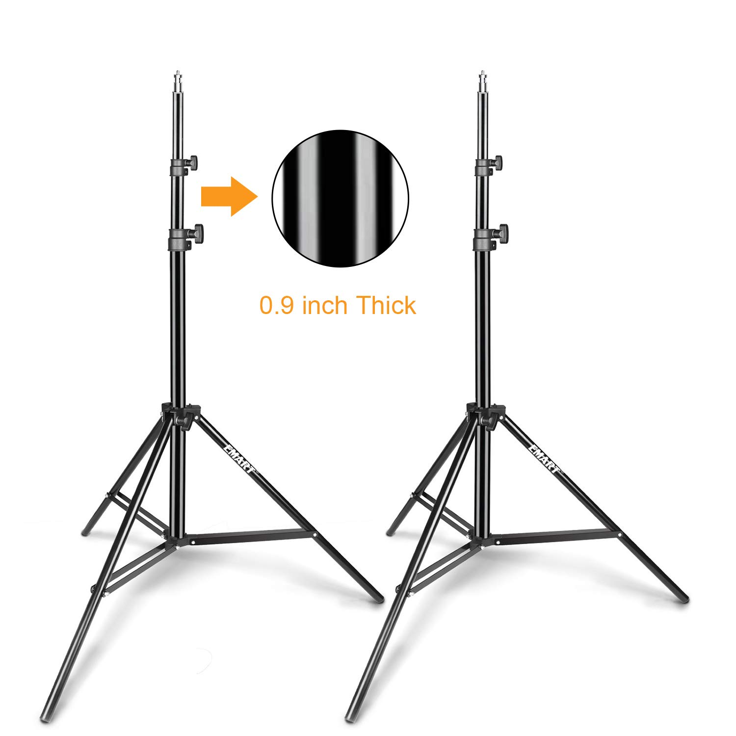 Emart Light Stand, 6.2ft Photography Stands for Photo Video Studio, Background, HTC Vive, Softbox, Reflector, etc. (2 Pack) by EMART