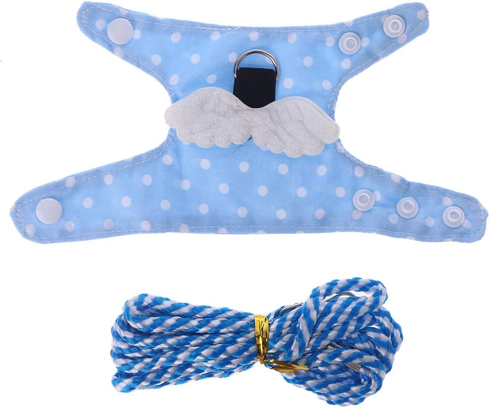 Oranmay Small Pet Harness Leash Forret Hamster Guinea Pig Wings Vest Clothes